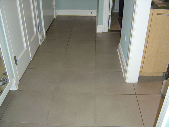 Tile and Grout Before