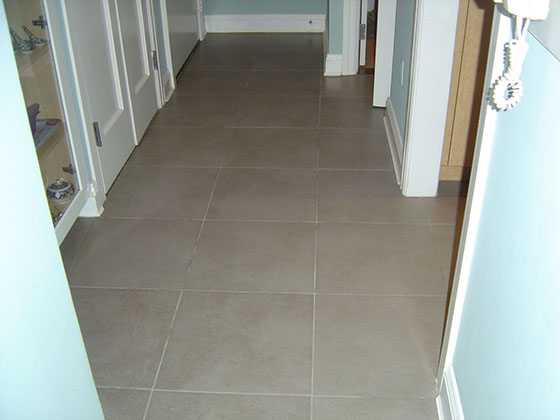 Grout Ready to Be Color Sealed