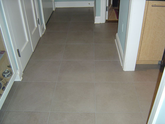 Color Sealed Tile and Grout Floor