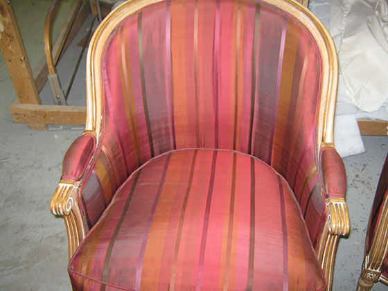 Antique Chair with Water Stains Removed