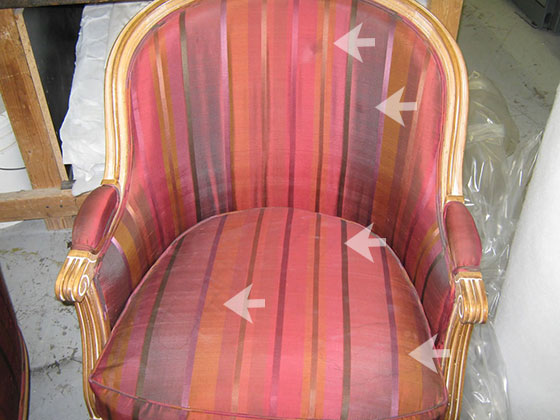 Antique Chair with Water Stains