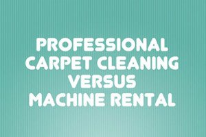 Professional carpet cleaning vs renting a DIY machine.