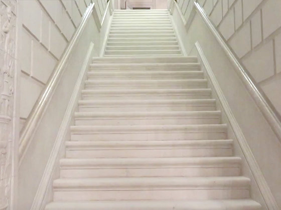 Historic Limestone Staircase Restored